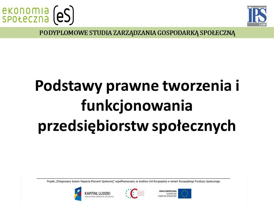 Agenda  Dylematy teoretyczne;  Europejskie dyskusje o definicji przedsiębiorstwa społecznego i przykłady europejskie;  Ustawodawstwo polskie;  organizacje pozarządowe  spółdzielnie pracy i spółdzielnie inwalidów  firmy osób niepełnosprawnych  zatrudnienie socjalne  spółdzielnie socjalne  przedsiębiorstwo społeczne