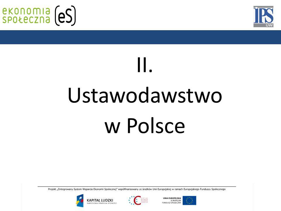 II. Ustawodawstwo w Polsce PODSTAWY PRAWNE
