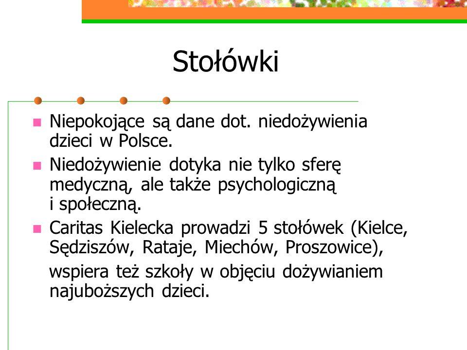 Stołówki Niepokojące są dane dot. niedożywienia dzieci w Polsce. Niedożywienie dotyka nie tylko sferę medyczną, ale także psychologiczną i społeczną.