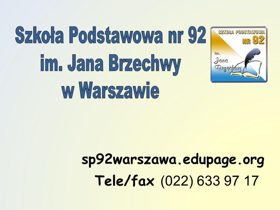 sp92warszawa.edupage.org Tele/fax (022) 633 97 17