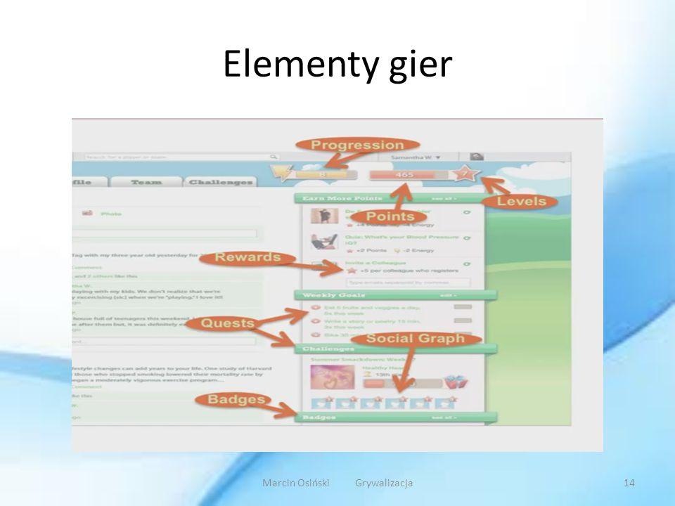 Elementy gier Marcin Osiński Grywalizacja14