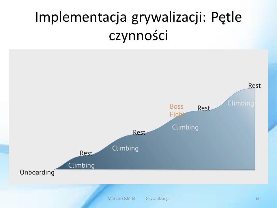Implementacja grywalizacji: Pętle czynności Marcin Osiński Grywalizacja60