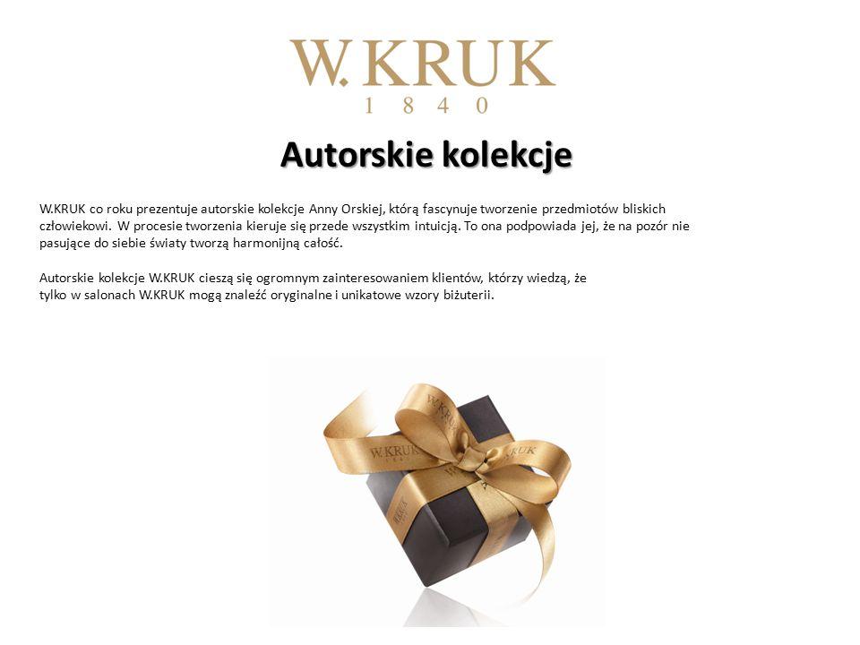 Autorskie kolekcje Autorskie kolekcje W.KRUK co roku prezentuje autorskie kolekcje Anny Orskiej, którą fascynuje tworzenie przedmiotów bliskich człowiekowi.