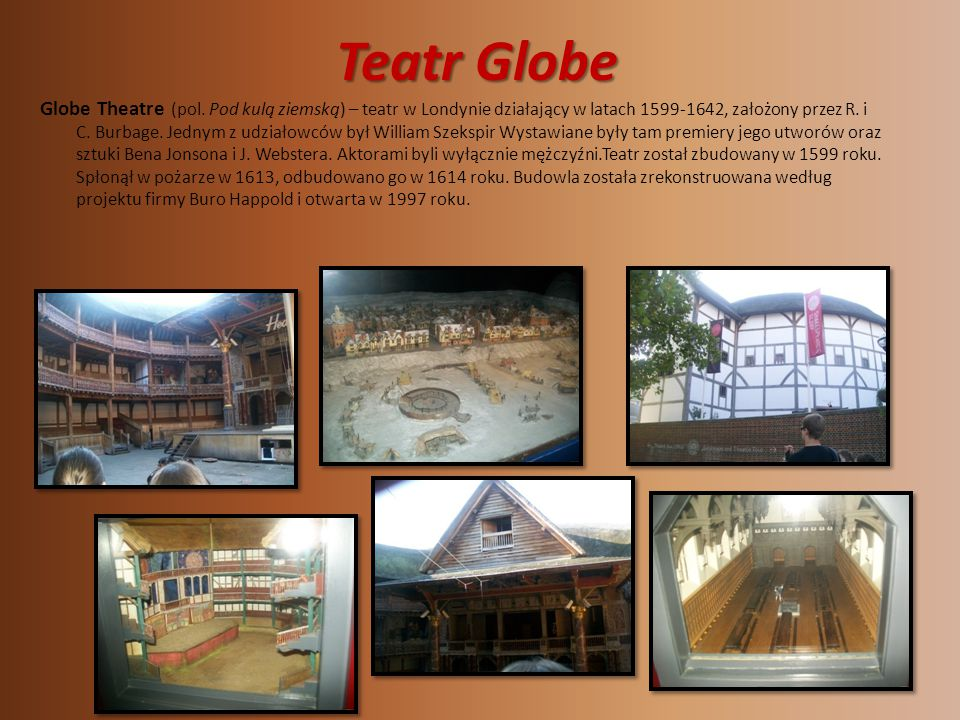 Teatr Globe Globe Theatre (pol.