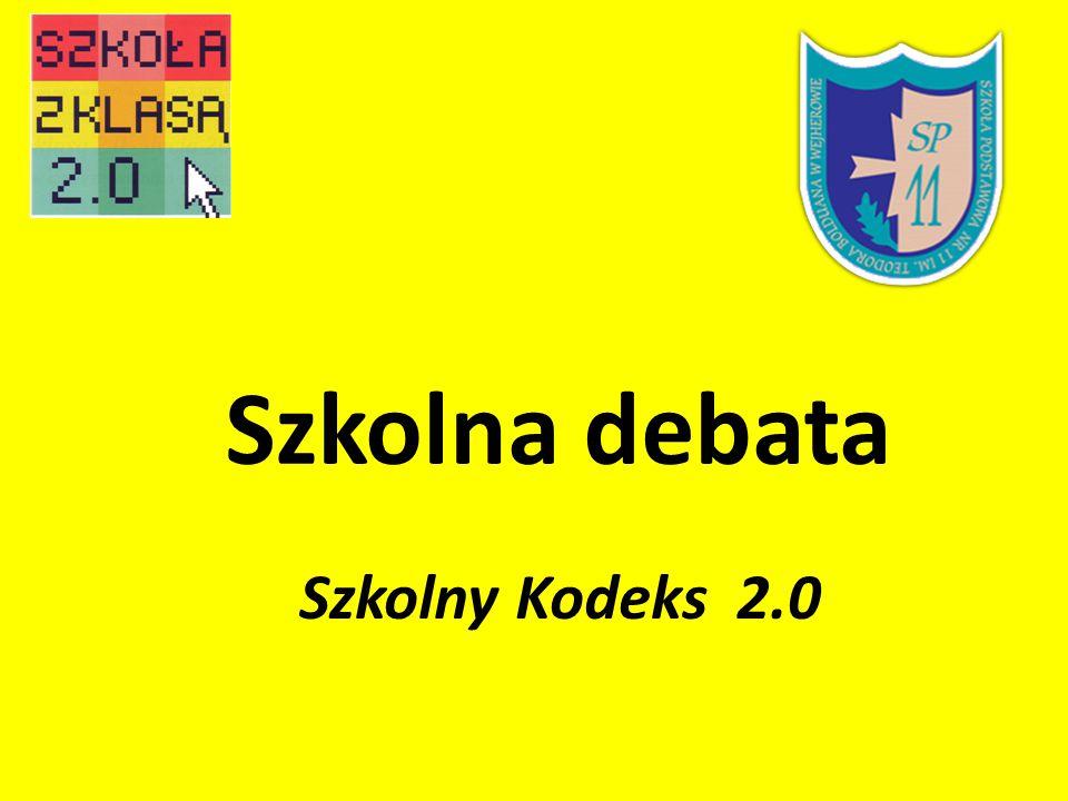 Szkolna debata Szkolny Kodeks 2.0