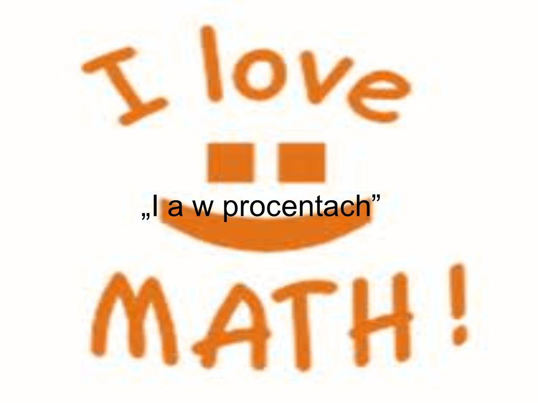 """""""I a w procentach"""