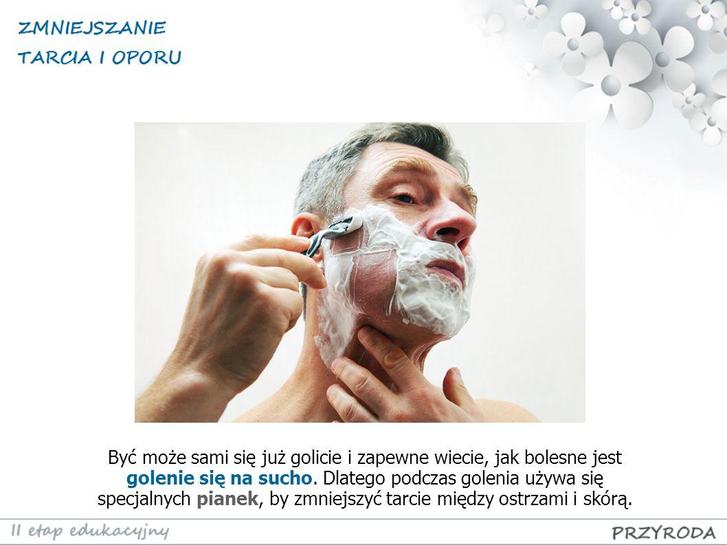 Być może sami się już golicie i zapewne wiec i e, jak bolesne jest golenie się na sucho. Dlatego podczas golenia używa się specjalnych pianek, by zmni