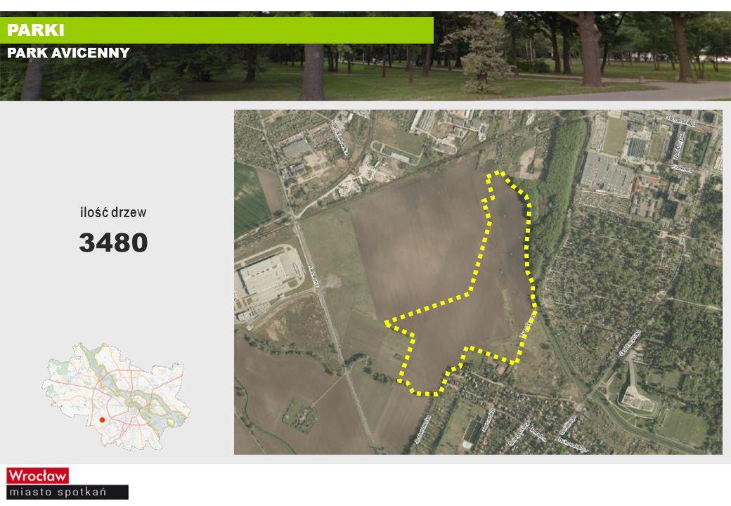 PARK AVICENNY ilość drzew 3480 PARKI