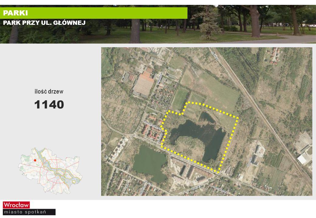 PARK PRZY UL. GŁÓWNEJ ilość drzew 1140 PARKI