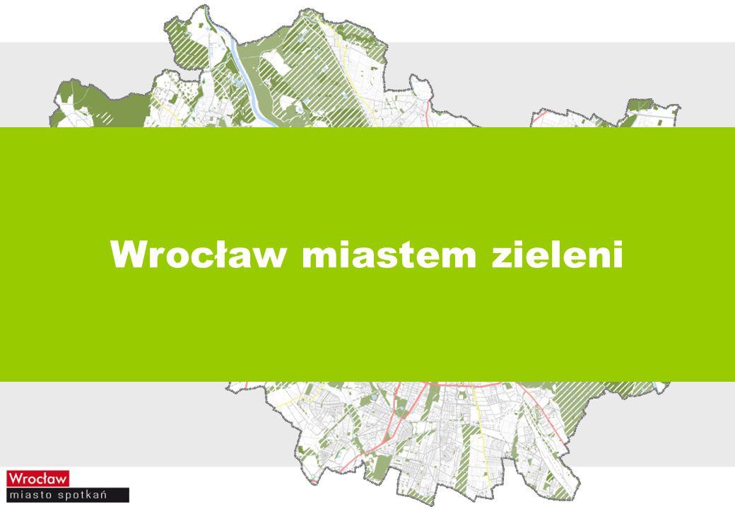 nasadzenia zieleni przez Zarząd Zieleni Miejskiej corocznie 2 ha parków leśnych 10 ha lasów 3000 drzew na terenach zieleni przyulicznej, w parkach, na skwerach i zieleńcach