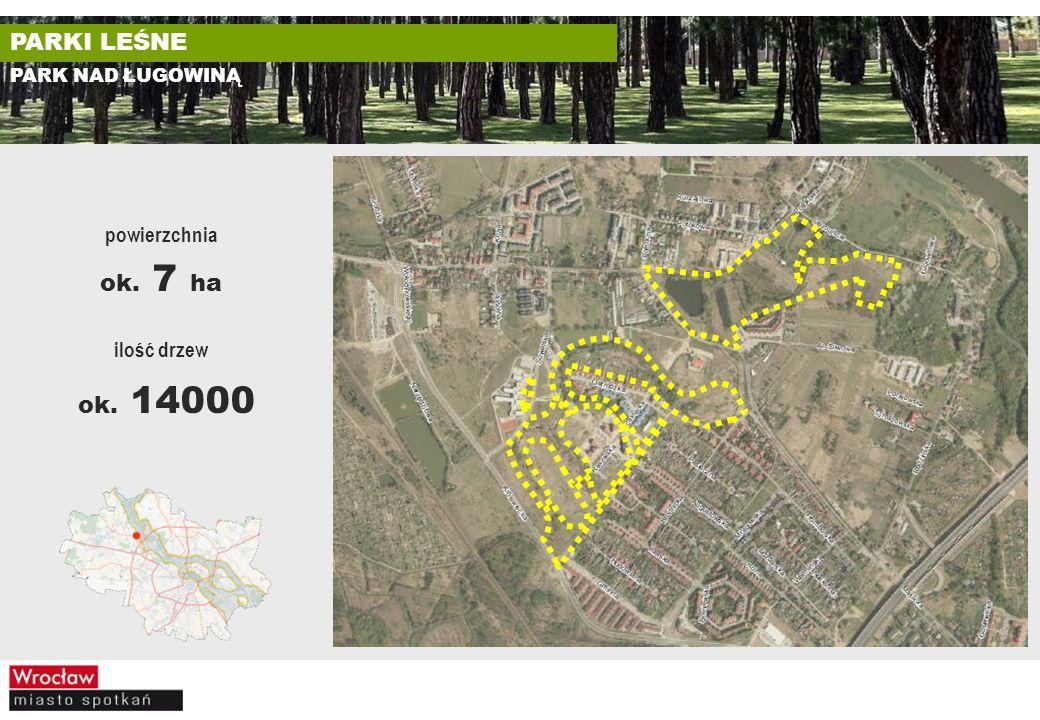 PARK NAD ŁUGOWINĄ ilość drzew ok. 14000 powierzchnia ok. 7 ha
