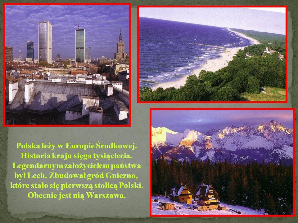 POLSKA Powierzchnia: 78 864 km 2 Ludność: 10 203 000 Stolica: Warszawa Język: polski Członek UE: 2004