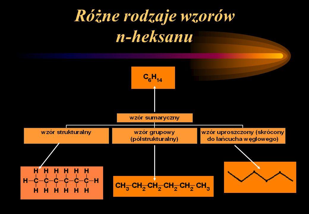 Jednopodstawiony izomer heksanu to metylopentan 2-metylopentan3-metylopentan grupa metylowa 1 2 3 4 5 grupa metylowa 1 2 3 4 5