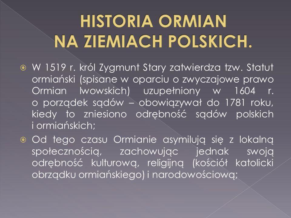  W 1519 r.król Zygmunt Stary zatwierdza tzw.