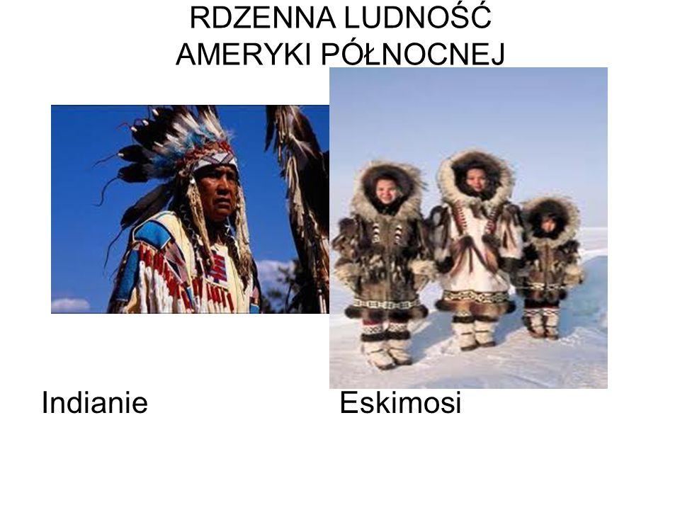 RDZENNA LUDNOŚĆ AMERYKI PÓŁNOCNEJ Indianie Eskimosi