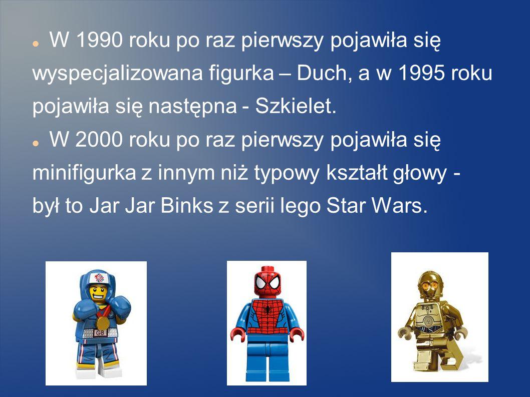 POWSTANIE MINIFIGUREK W 1975 roku pierwsze figurki Lego były figurkami Lego Duplo. Nogi były wykonane z jednego kawałka plastiku, a główki były bez na