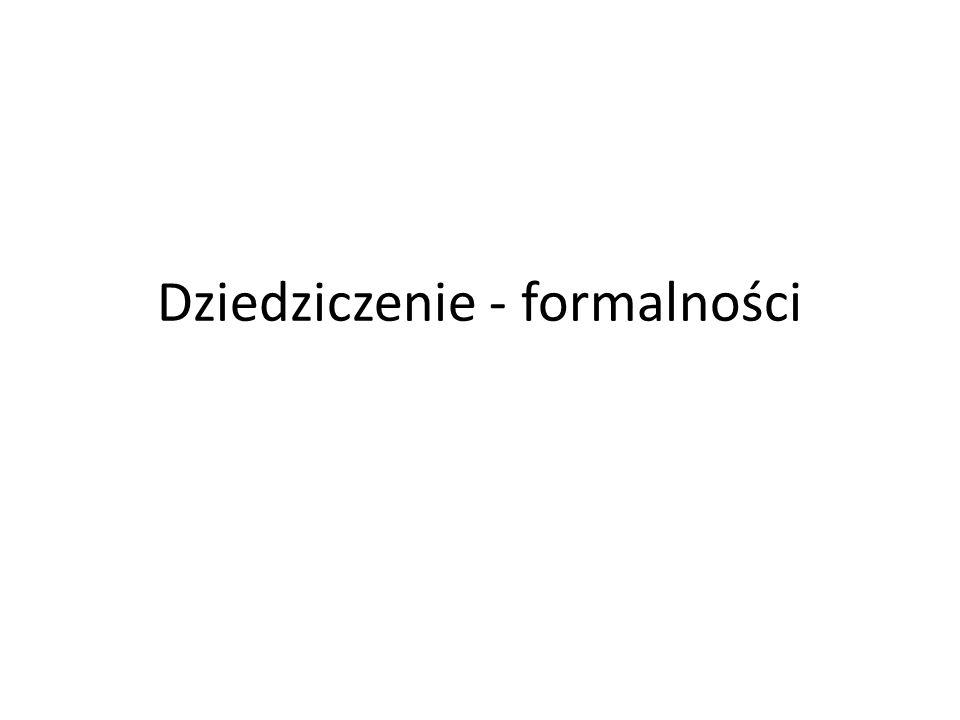 Monika Drela www.krn.org.pl Rejestr aktów poświadczenia dziedziczenia