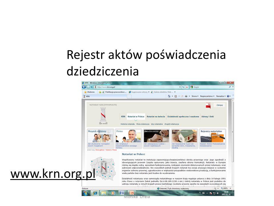 Monika Drela www.rejestry.net.pl