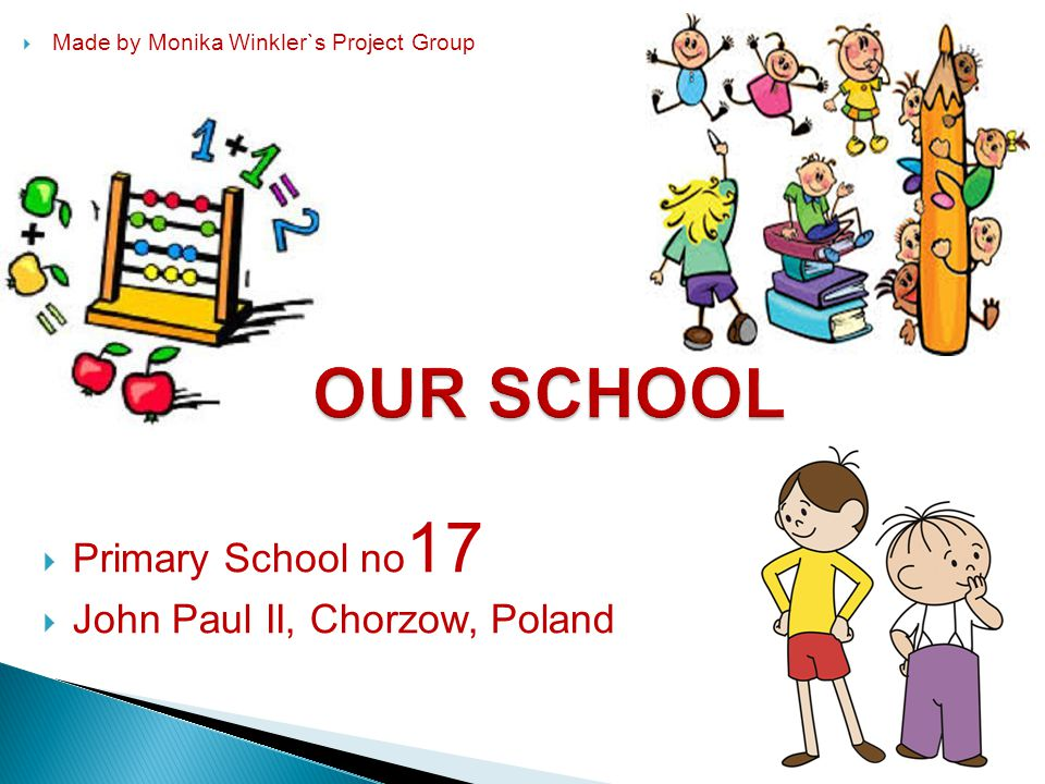  Primary School no 17  John Paul II, Chorzow, Poland  Made by Monika Winkler`s Project Group