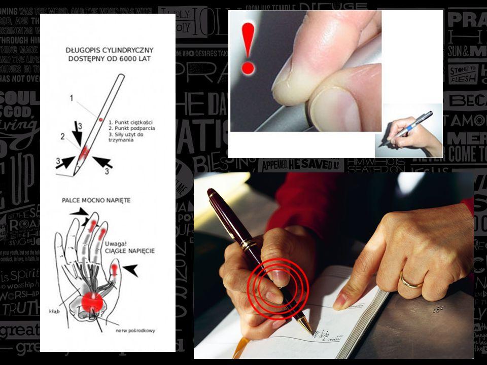 Rozwiązanie tego problemu może wydawać się oczywiste- należy zmniejszyć nacisk (inaczej: ciśnienie, czyli stosunek siły do powierzchni) na powierzchnię palców, zwłaszcza bocznej powierzchni długiego palca w okolicy paznokcia.
