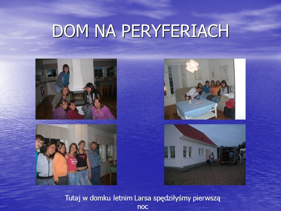 DOM NA PERYFERIACH Tutaj w domku letnim Larsa spędziłyśmy pierwszą noc