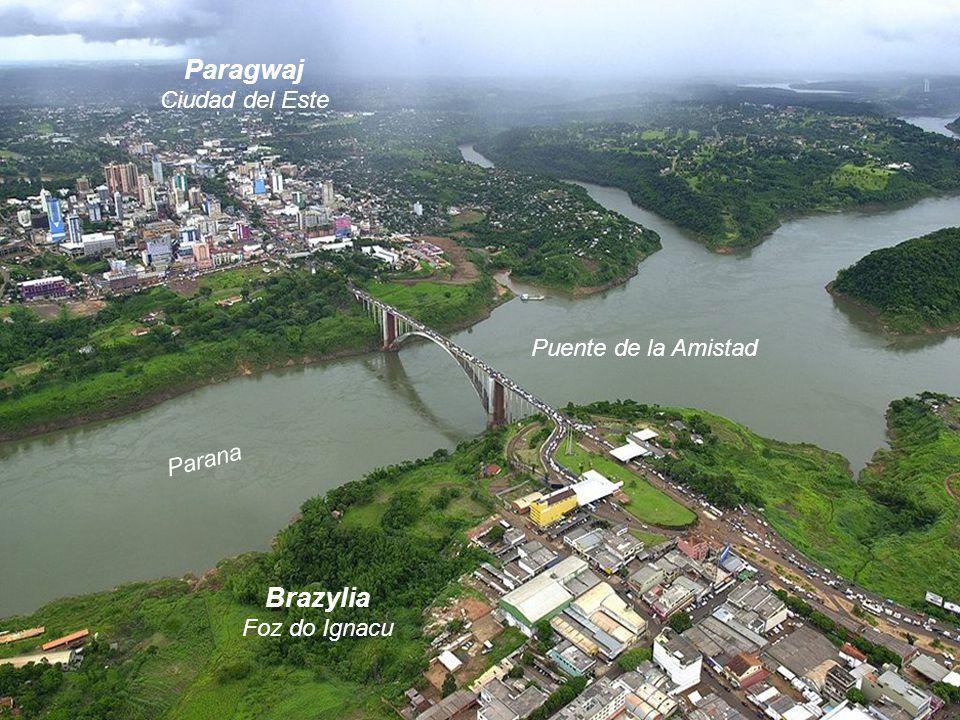 Paragwaj Ciudad del Este Brazylia Foz do Ignacu Puente de la Amistad Parana