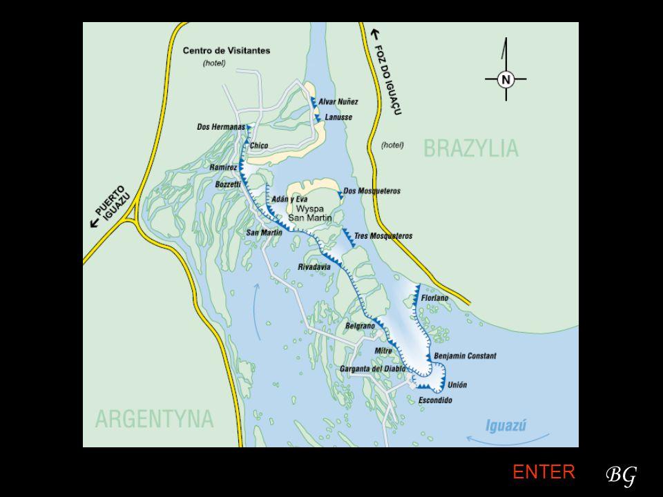 Historia Katarakty Iguazú zostały odkryte po raz pierwszy przez białego człowieka w 1541 roku przez hiszpańskiego badacza Alvara Nuńez Cabeza de Vaca podróżującego z brazylijskiego wybrzeża do Asunción w Paragwaju.