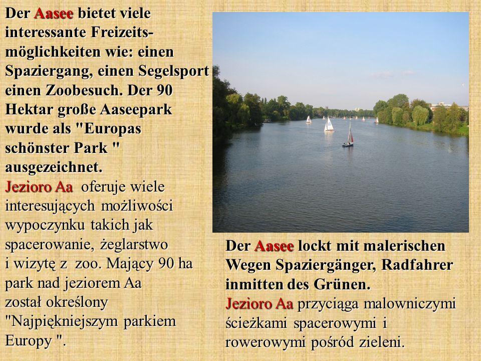 Der Aasee lockt mit malerischen Wegen Spaziergänger, Radfahrer inmitten des Grünen.