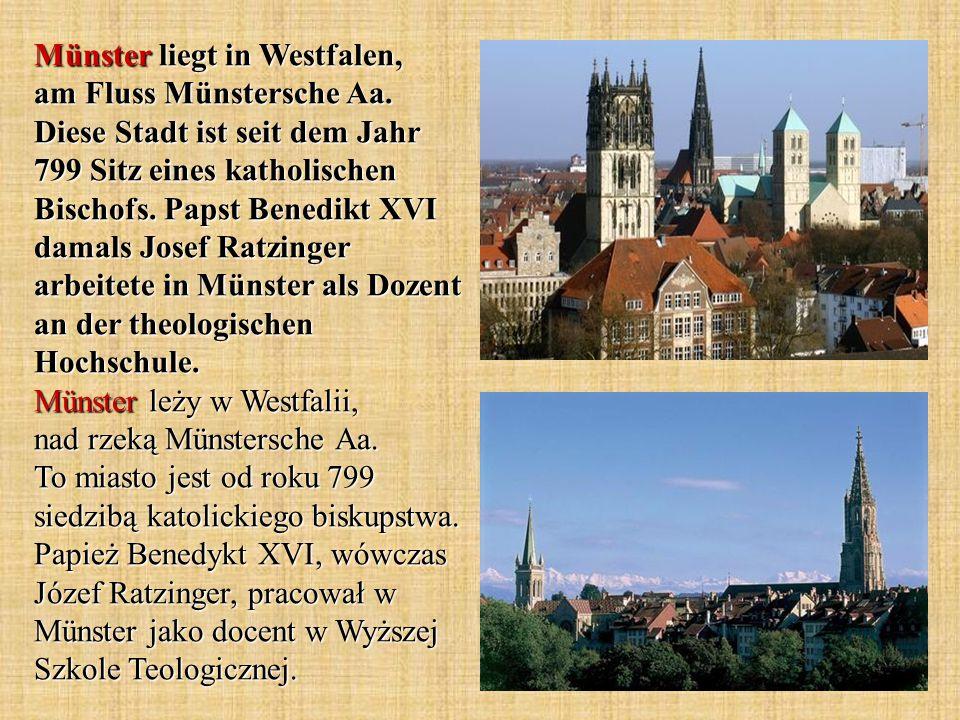 Münster liegt in Westfalen, am Fluss Münstersche Aa.
