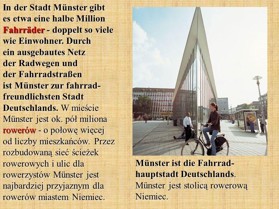 In der Stadt Münster gibt es etwa eine halbe Million Fahrräder - doppelt so viele wie Einwohner.
