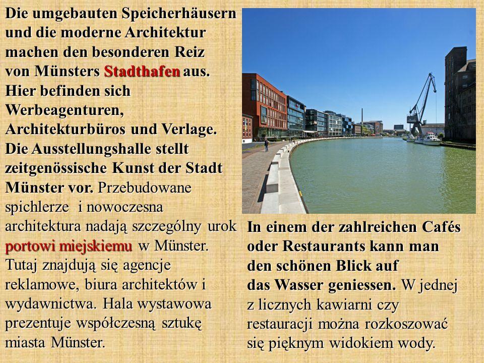 Die umgebauten Speicherhäusern und die moderne Architektur machen den besonderen Reiz von Münsters Stadthafen aus.
