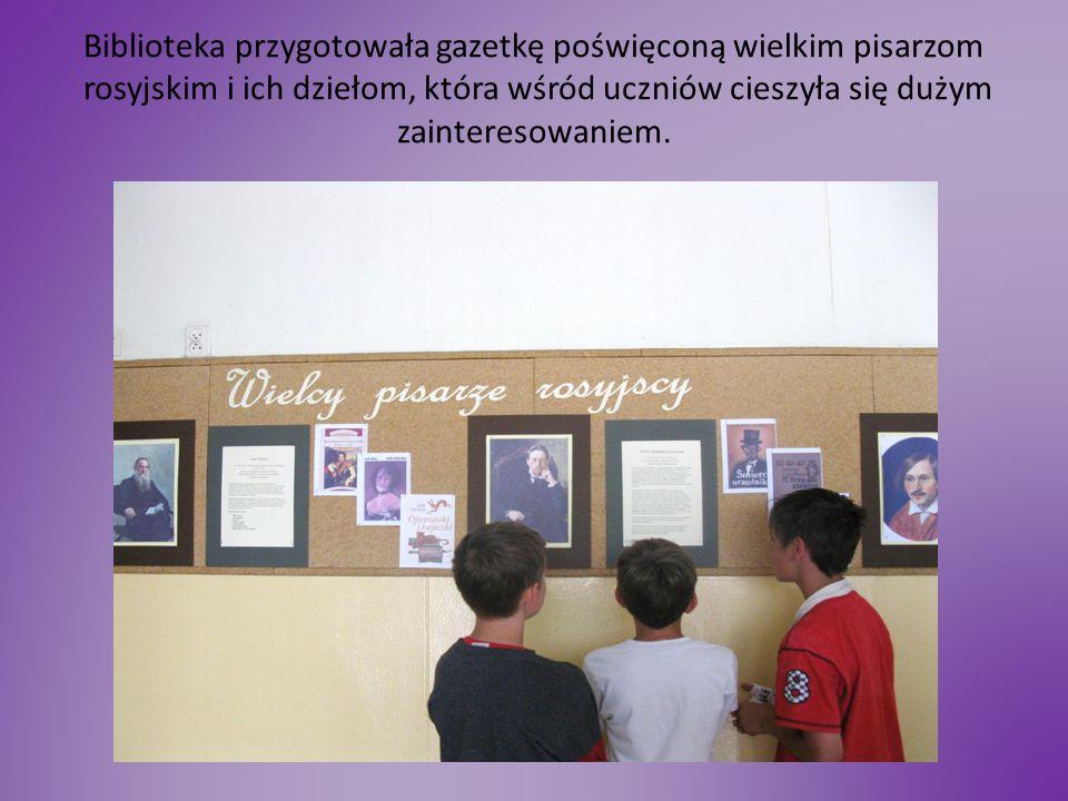 Na warsztatach plastycznych uczniowie malowali Matrioszki. Wystawa była imponująca.