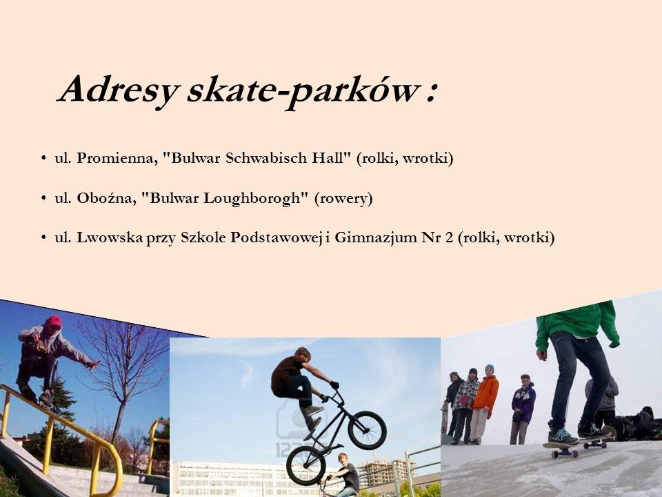 Adresy skate-parków : ul. Promienna,