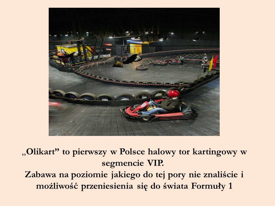 """""""Olikart"""" to pierwszy w Polsce halowy tor kartingowy w segmencie VIP. Zabawa na poziomie jakiego do tej pory nie znaliście i możliwość przeniesienia s"""