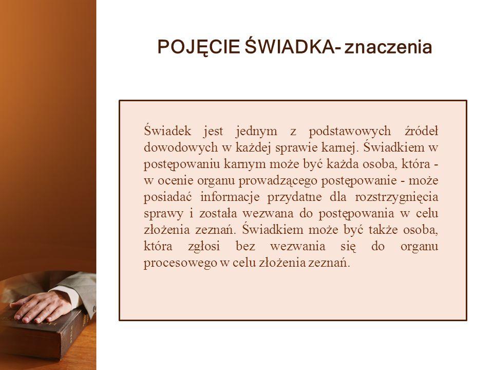 UPRAWNIENIA ŚWIADKA 4.