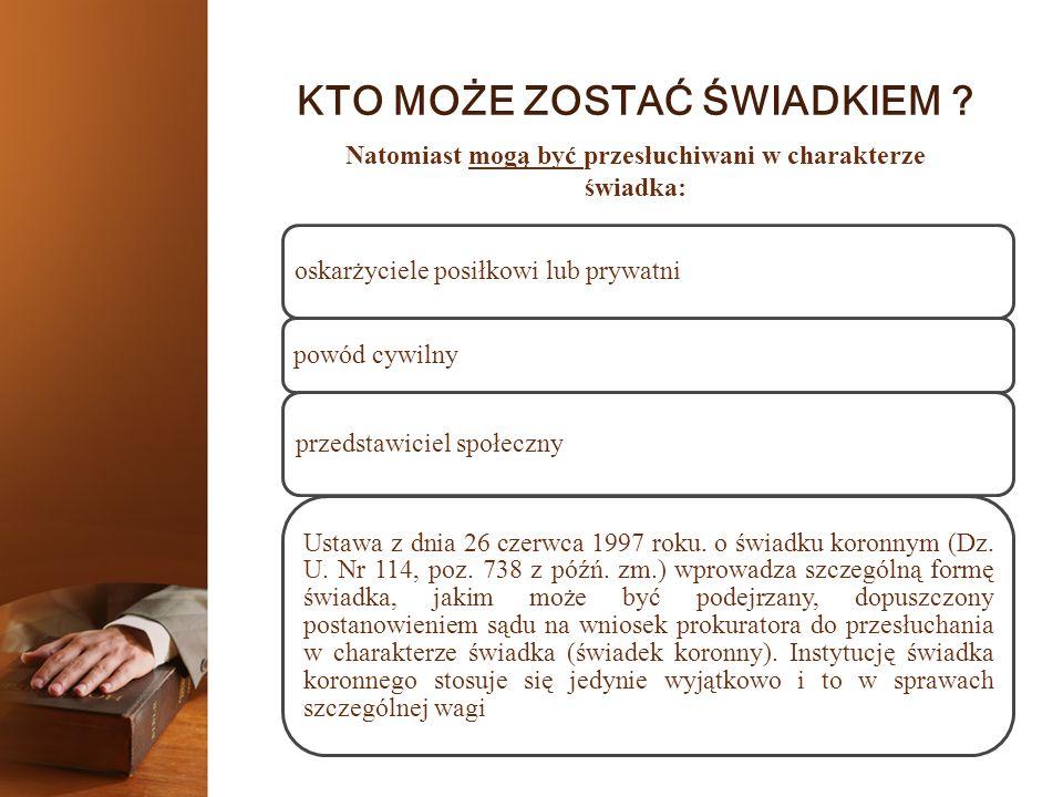 UPRAWNIENIA ŚWIADKA 6.