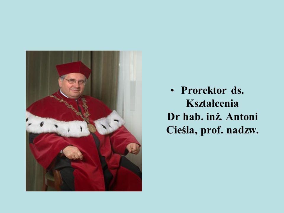 Prorektor ds. Kształcenia Dr hab. inż. Antoni Cieśla, prof. nadzw.