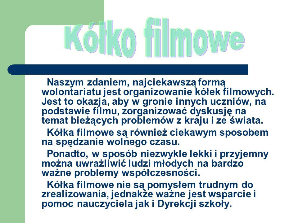 W dniu 25 lutego 2011r.w ZSO im. Książąt Czartoryskich odbyło się kółko filmowe.