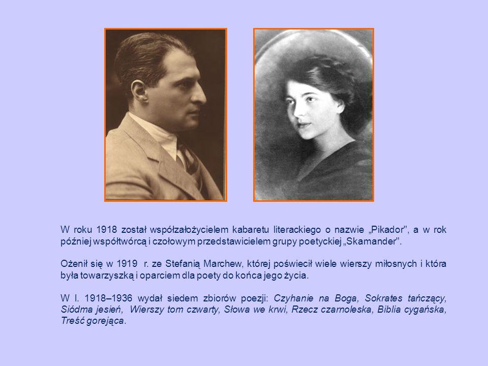 """W roku 1918 został współzałożycielem kabaretu literackiego o nazwie """"Pikador"""