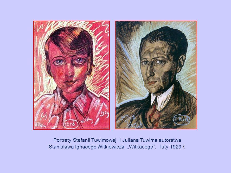 """Portrety Stefanii Tuwimowej i Juliana Tuwima autorstwa Stanisława Ignacego Witkiewicza """"Witkacego"""", luty 1929 r."""