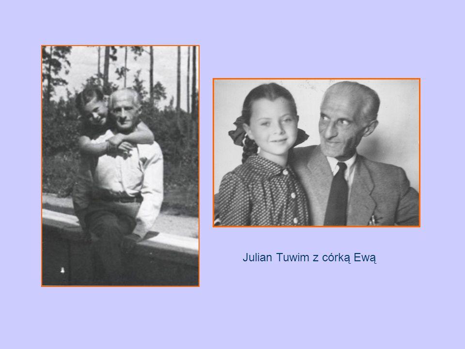Julian Tuwim z córką Ewą