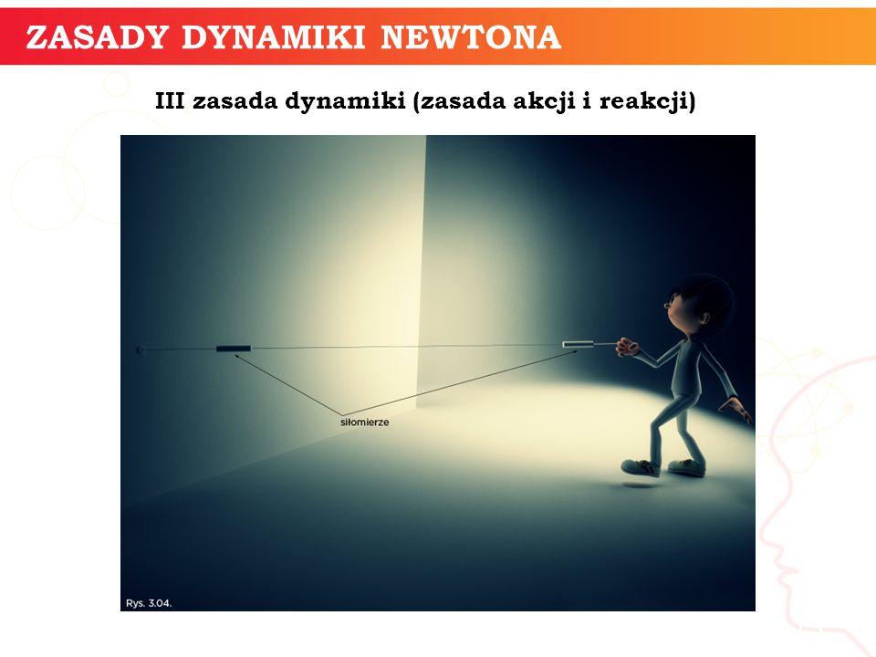 informatyka + 13 ZASADY DYNAMIKI NEWTONA III zasada dynamiki (zasada akcji i reakcji)