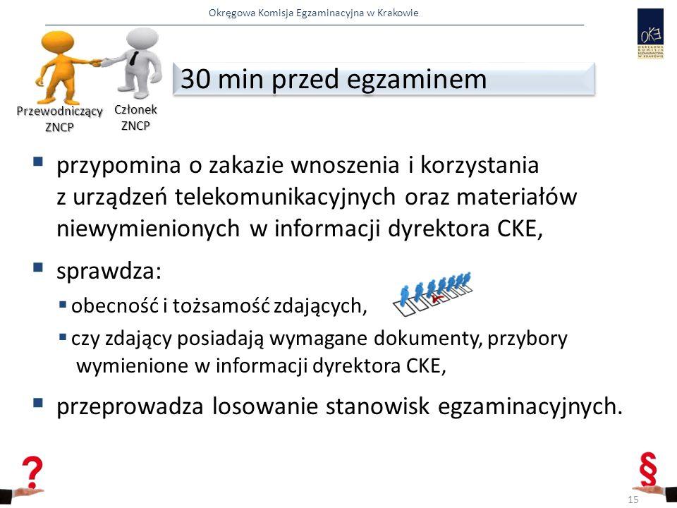 Okręgowa Komisja Egzaminacyjna w Krakowie  przypomina o zakazie wnoszenia i korzystania z urządzeń telekomunikacyjnych oraz materiałów niewymieniony