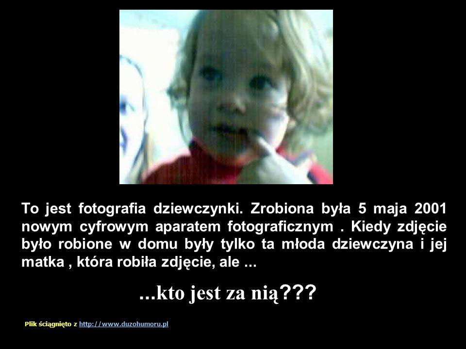 To jest fotografia dziewczynki.Zrobiona była 5 maja 2001 nowym cyfrowym aparatem fotograficznym.
