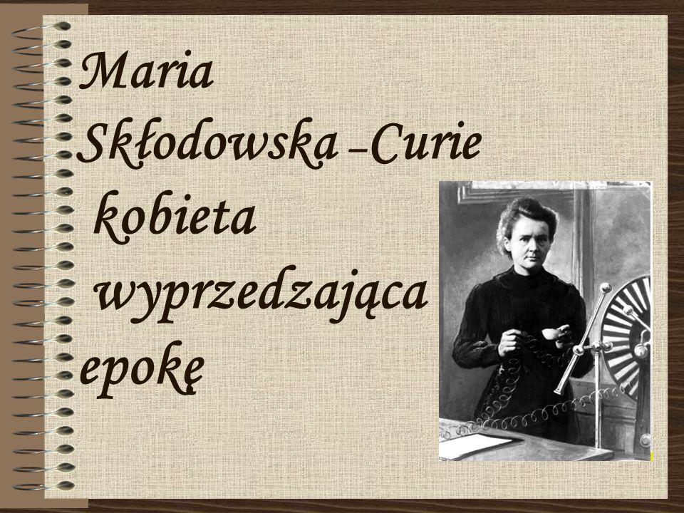 Bibliografia Internet – zdjęcia; Wywiada z Małgorzatą Sobieszczak-Marciniak, dyrektorem muzeum Marii Skłodowskiej-Curie w Warszawie; http://historia_kobiet.w.interia.pl/teksty/sklodowska.html;http://historia_kobiet.w.interia.pl/teksty/sklodowska.html http://pl.wikipedia.org/wiki/Maria_Sk%C5%82odowska-Curie;http://pl.wikipedia.org/wiki/Maria_Sk%C5%82odowska-Curie http://www.lo.internetdsl.pl/dokumenty/msc2.pdf;http://www.lo.internetdsl.pl/dokumenty/msc2.pdf http://zapytaj.onet.pl/Category/006,012/2,4056490,osiagniecia_Marii_Sklod owskiej__Curie_.html;http://zapytaj.onet.pl/Category/006,012/2,4056490,osiagniecia_Marii_Sklod owskiej__Curie_.html http://www.miesiecznikchemik.pl/index.php?option=com_content&view=art icle&id=2482:maria-skodowska-curie-polka-uczona-wszech- czasow&catid=146:iyc2011&Itemid=344;http://www.miesiecznikchemik.pl/index.php?option=com_content&view=art icle&id=2482:maria-skodowska-curie-polka-uczona-wszech- czasow&catid=146:iyc2011&Itemid=344 http://atomistyka.pl/promien/msc.html;http://atomistyka.pl/promien/msc.html http://www.nazdrowie.pl/artykul/miejsce-kobiety-jest-w-laboratorium-maria- sklodowska-curie;http://www.nazdrowie.pl/artykul/miejsce-kobiety-jest-w-laboratorium-maria- sklodowska-curie http://www.chemgeneration.com/pl/women/maria-sk%C5%82odowska- curie-%281867%E2%80%931934%29.html;http://www.chemgeneration.com/pl/women/maria-sk%C5%82odowska- curie-%281867%E2%80%931934%29.html