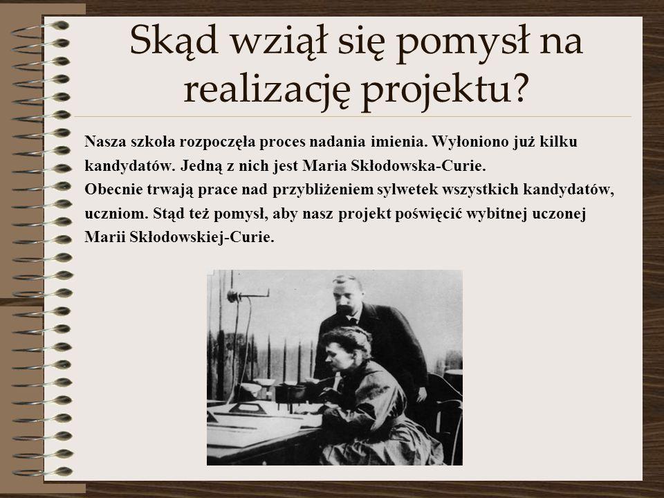 Bibliografia http://www.sciaga.pl/tekst/25228-26- maria_sklodowska_curie_zycie_i_sukcesy_wybitnej_uczonej;http://www.sciaga.pl/tekst/25228-26- maria_sklodowska_curie_zycie_i_sukcesy_wybitnej_uczonej http://sto.szczecin.pl/stara1/stara/p/nobel/maria.htm;http://sto.szczecin.pl/stara1/stara/p/nobel/maria.htm http://www.sciaga.pl/tekst/93217-94-biografia_marii_sklodowskiej_curie;http://www.sciaga.pl/tekst/93217-94-biografia_marii_sklodowskiej_curie http://www.if.pw.edu.pl/~pluta/pl/dyd/mtj/zal99/janiszewska/p4.htm;http://www.if.pw.edu.pl/~pluta/pl/dyd/mtj/zal99/janiszewska/p4.htm http://www.curie.edu.pl/index.php?option=com_content&view=article&id=1 03&Itemid=100;http://www.curie.edu.pl/index.php?option=com_content&view=article&id=1 03&Itemid=100 http://www.gim16.pl/Sklodowska-Curie/sklodowska.html;http://www.gim16.pl/Sklodowska-Curie/sklodowska.html