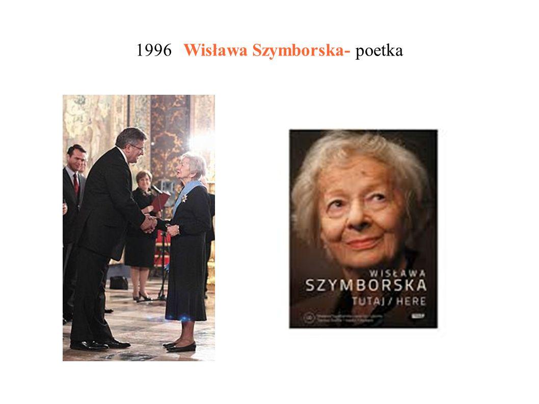 1980 Czesław Miłosz, który emigrował do USA i tam tworzył poezję w języku polskim