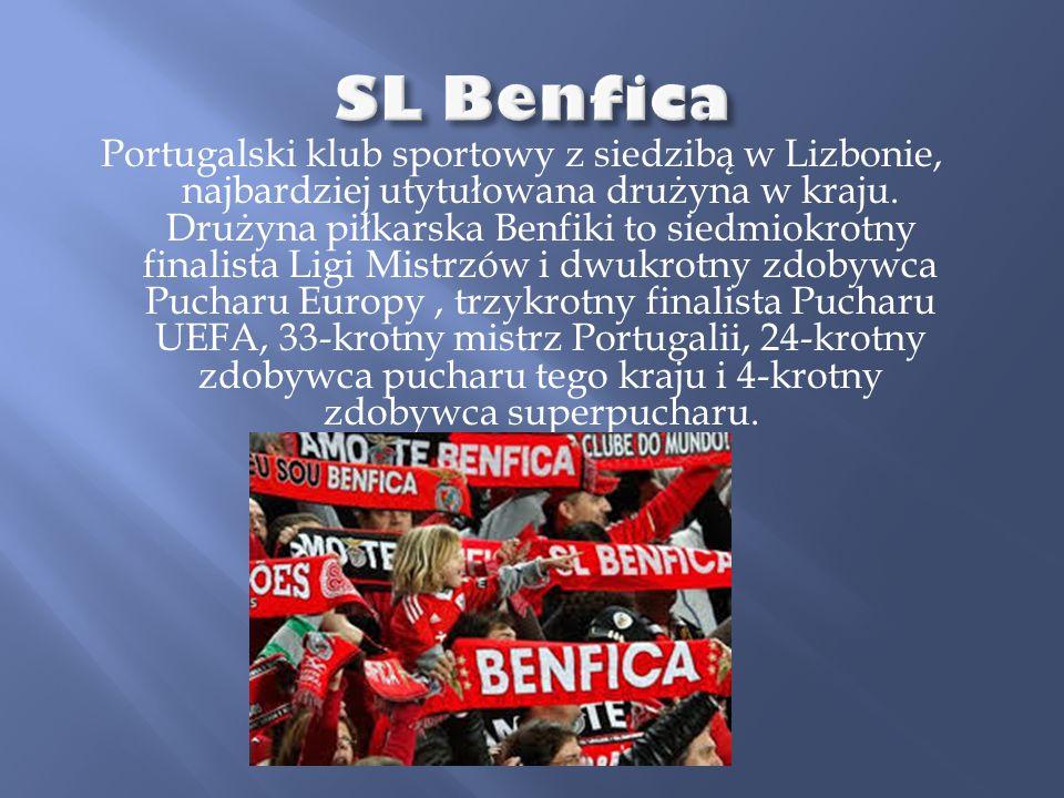 Portugalski klub sportowy z siedzibą w Lizbonie, najbardziej utytułowana drużyna w kraju. Drużyna piłkarska Benfiki to siedmiokrotny finalista Ligi Mi