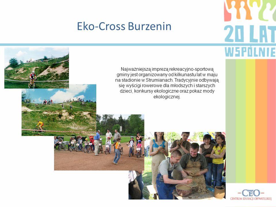 Eko-Cross Burzenin Najważniejszą imprezą rekreacyjno-sportową gminy jest organizowany od kilkunastu lat w maju na stadionie w Strumianach. Tradycyjnie