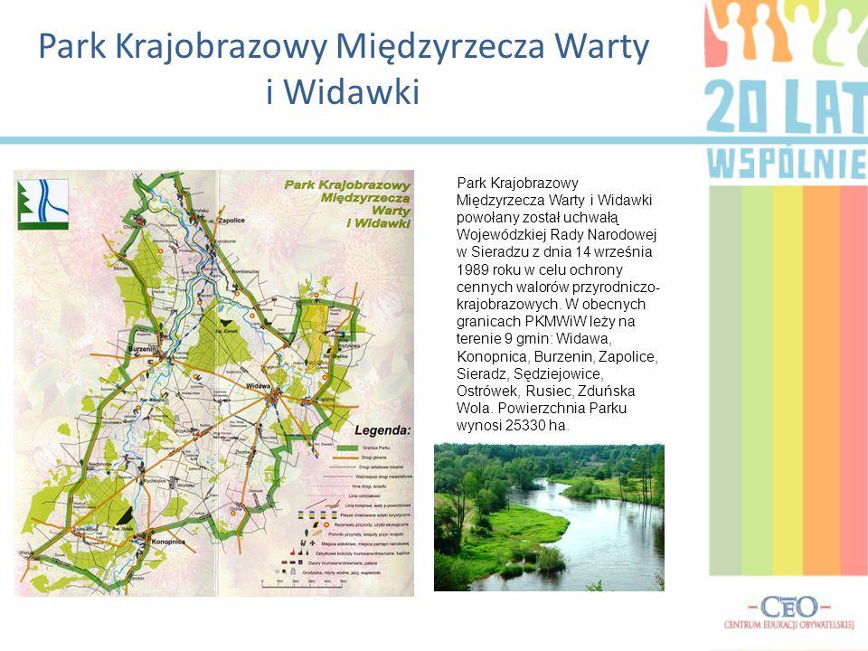 Park Krajobrazowy Międzyrzecza Warty i Widawki Park Krajobrazowy Międzyrzecza Warty i Widawki powołany został uchwałą Wojewódzkiej Rady Narodowej w Si